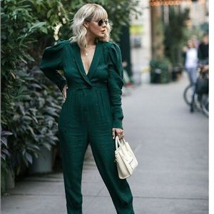 NEW Free People Star Eyes Green Medallion Jumpsuit